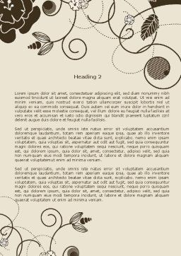 Brown Floral Ornament Word Template, Second Inner Page, 08207, Holiday/Special Occasion — PoweredTemplate.com