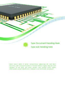 Processor Chip Word Template Cover Page