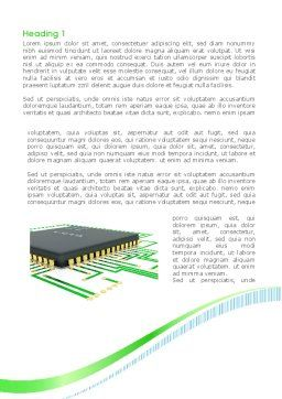 Processor Chip Word Template First Inner Page