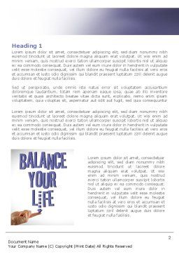 Balanced Life Word Template, First Inner Page, 08210, Education & Training — PoweredTemplate.com