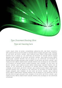 Green Light Word Template, Cover Page, 08212, Technology, Science & Computers — PoweredTemplate.com