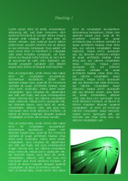 Green Light Word Template, First Inner Page, 08212, Technology, Science & Computers — PoweredTemplate.com