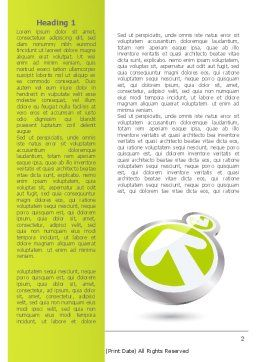 Olive Arrow Word Template, First Inner Page, 08215, Consulting — PoweredTemplate.com