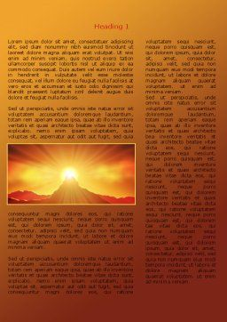 Sunrise in Mountains Word Template First Inner Page