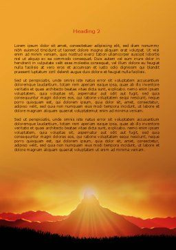 Sunrise in Mountains Word Template Second Inner Page