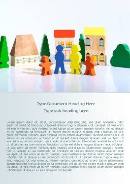 Toy Family Word Template, Cover Page, 08220, Religious/Spiritual — PoweredTemplate.com