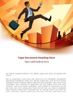 Business Career Development Word Template, Cover Page, 08222, Business — PoweredTemplate.com