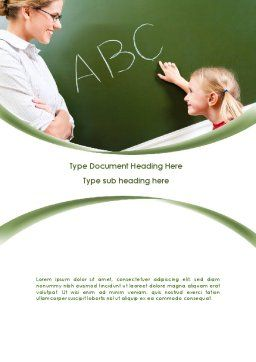Writing the Alphabet Word Template, Cover Page, 08225, Education & Training — PoweredTemplate.com