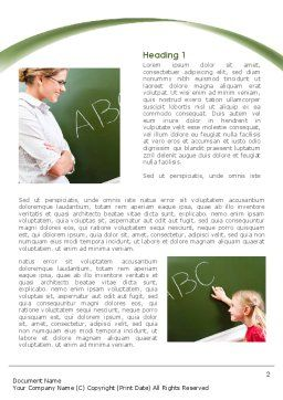Writing the Alphabet Word Template, First Inner Page, 08225, Education & Training — PoweredTemplate.com