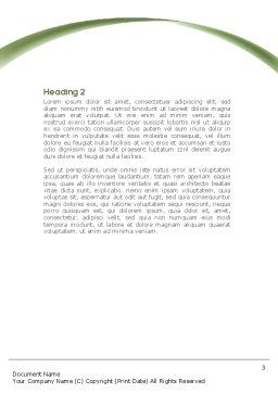 Writing the Alphabet Word Template, Second Inner Page, 08225, Education & Training — PoweredTemplate.com