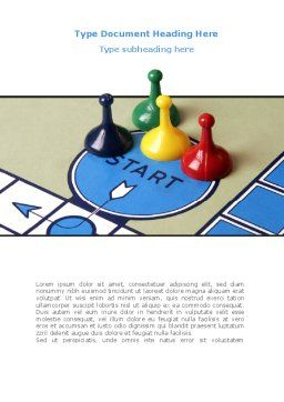 New Board Game Word Template, Cover Page, 08226, Business Concepts — PoweredTemplate.com
