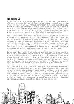 City Architecture Sketch Word Template, Second Inner Page, 08228, Construction — PoweredTemplate.com