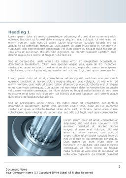 Gear Shaft Word Template, First Inner Page, 08229, Utilities/Industrial — PoweredTemplate.com