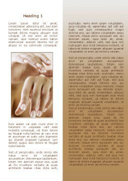 Hand Cream Word Template, First Inner Page, 08230, Careers/Industry — PoweredTemplate.com