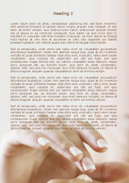 Hand Cream Word Template, Second Inner Page, 08230, Careers/Industry — PoweredTemplate.com