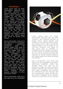 Football Championships Word Template, First Inner Page, 08231, Sports — PoweredTemplate.com