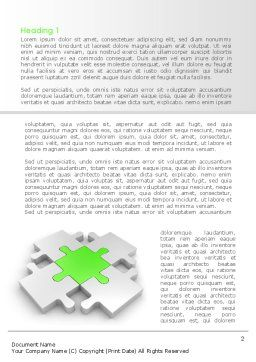 Green Center Jigsaw Word Template First Inner Page