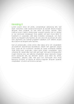 Green Center Jigsaw Word Template Second Inner Page