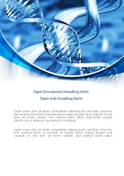 Blue Double Helix Word Template, Cover Page, 08234, Medical — PoweredTemplate.com