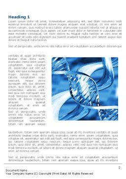 Blue Double Helix Word Template, First Inner Page, 08234, Medical — PoweredTemplate.com