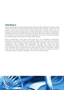 Blue Double Helix Word Template, Second Inner Page, 08234, Medical — PoweredTemplate.com