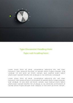 High-End Audio Word Template, Cover Page, 08236, Careers/Industry — PoweredTemplate.com