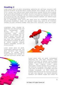 Jigsaw Path Finishing Word Template, First Inner Page, 08238, Consulting — PoweredTemplate.com