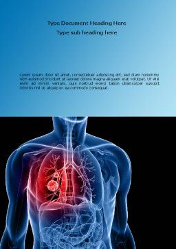Lung Cancer Word Template, Cover Page, 08239, Medical — PoweredTemplate.com