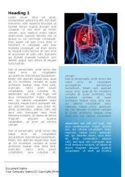 Lung Cancer Word Template, First Inner Page, 08239, Medical — PoweredTemplate.com