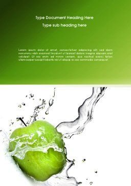 Clean Apple Word Template, Cover Page, 08244, Careers/Industry — PoweredTemplate.com