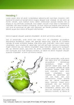Clean Apple Word Template, First Inner Page, 08244, Careers/Industry — PoweredTemplate.com