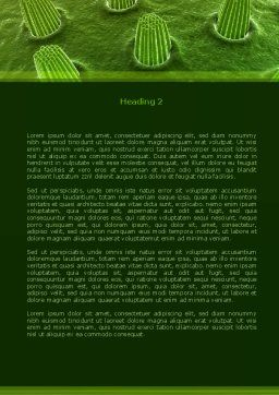 Ear Cells Word Template, Second Inner Page, 08246, Medical — PoweredTemplate.com