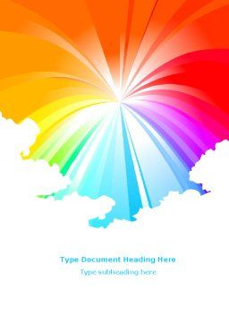 Rainbow Word Template, Cover Page, 08247, Religious/Spiritual — PoweredTemplate.com