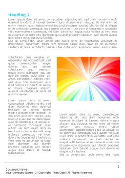 Rainbow Word Template, First Inner Page, 08247, Religious/Spiritual — PoweredTemplate.com