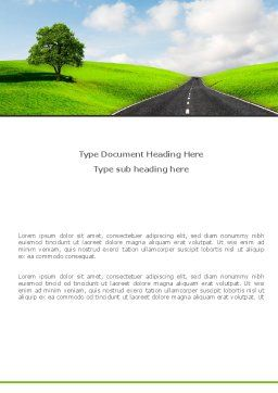Clear Road Word Template, Cover Page, 08248, Construction — PoweredTemplate.com