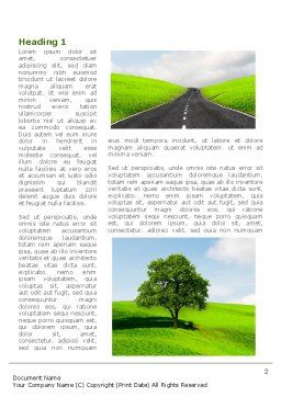 Clear Road Word Template, First Inner Page, 08248, Construction — PoweredTemplate.com