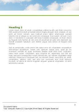 Clear Road Word Template, Second Inner Page, 08248, Construction — PoweredTemplate.com
