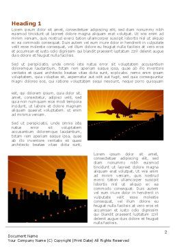 Airplane Landing Word Template, First Inner Page, 08251, Cars/Transportation — PoweredTemplate.com