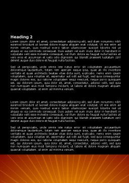 Airplane Landing Word Template, Second Inner Page, 08251, Cars/Transportation — PoweredTemplate.com