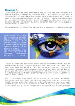 World Eye Word Template, First Inner Page, 08253, Global — PoweredTemplate.com