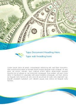 Hundred Dollar Bill Word Template Cover Page