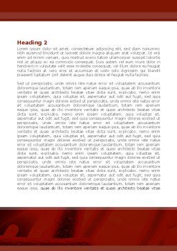 Dyad Word Template, Second Inner Page, 08256, Medical — PoweredTemplate.com