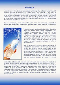 Mineral Water Word Template, First Inner Page, 08260, Careers/Industry — PoweredTemplate.com