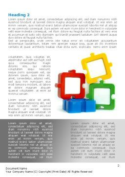 Square Puzzles Word Template, First Inner Page, 08261, Business — PoweredTemplate.com