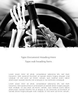 Drunk Driving Word Template, Cover Page, 08264, Cars/Transportation — PoweredTemplate.com