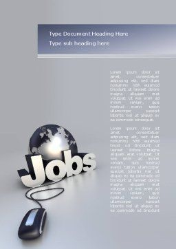 Online Job Search Word Template, Cover Page, 08267, Careers/Industry — PoweredTemplate.com