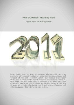 Financial Year 2011 Word Template, Cover Page, 08268, Financial/Accounting — PoweredTemplate.com