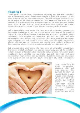 Belly Heart Word Template, First Inner Page, 08270, Medical — PoweredTemplate.com