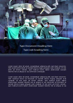 Surgical Procedure Word Template, Cover Page, 08272, Medical — PoweredTemplate.com