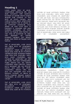 Surgical Procedure Word Template, First Inner Page, 08272, Medical — PoweredTemplate.com